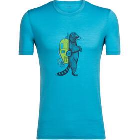 Icebreaker Tech Lite Waschbar Wandering Shortsleeve Shirt Men blue